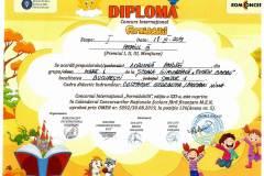 Diplome obținute de elevii de la Școala Gimnazială Eugen Barbu - 2019-2020